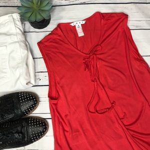 {CAbi} sz S #765 lobster red sleeveless blouse